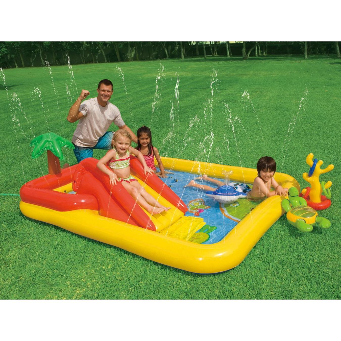 Inflatable Slide Paddling Pool: Intex Ocean Play Kids Activity Water Play Centre Paddling
