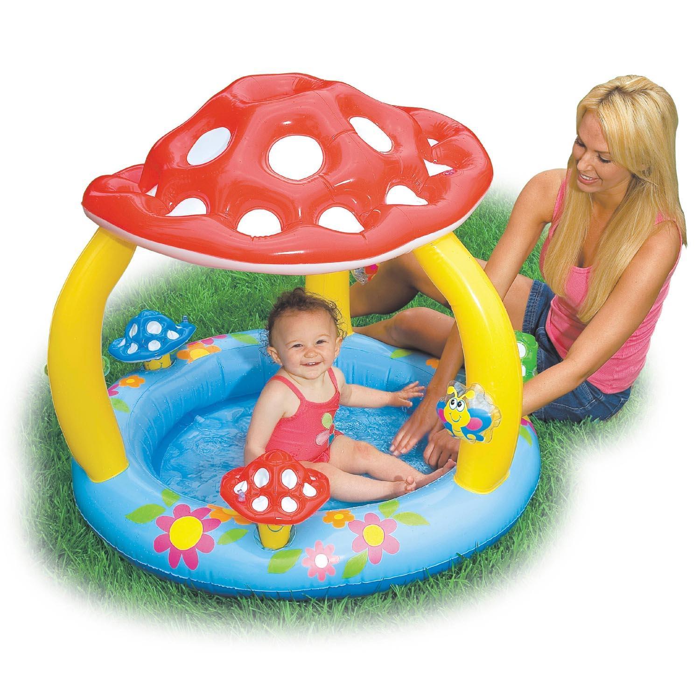 Intex Mushroom Baby Toddler Sun Shade Chiildrens Kids Canopy Paddling Pool Ebay