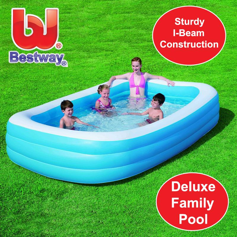 Bestway Inflatable Family Lounge Large Paddling Swimming Garden Summer Pool 10ft Ebay