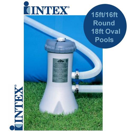 Intex filter pump 10 12 15 16 18 ft foot paddling swimming for Paddling pool filter