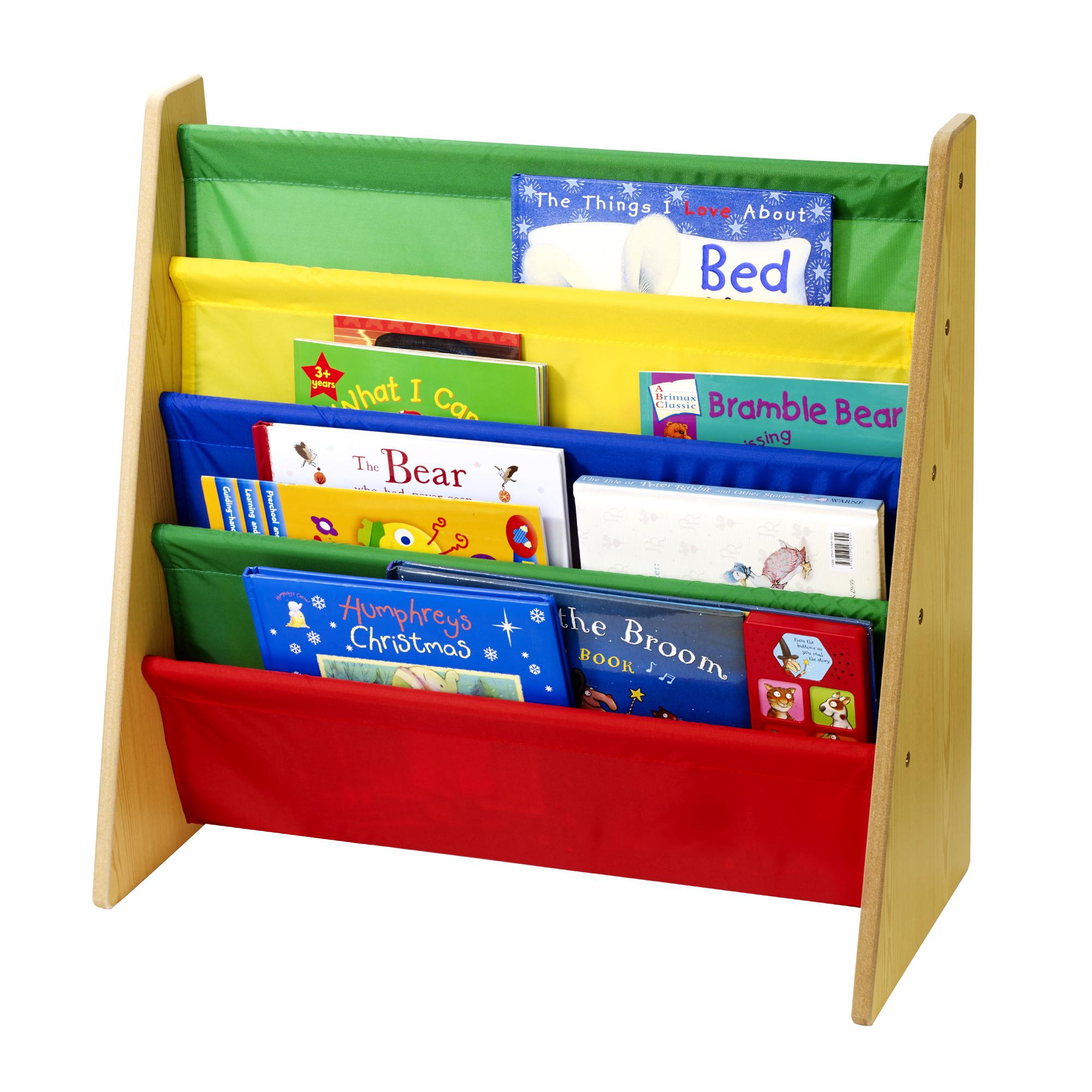 Details about Childrens/Kids Wooden Bookcase Rack Storage Book Shelf