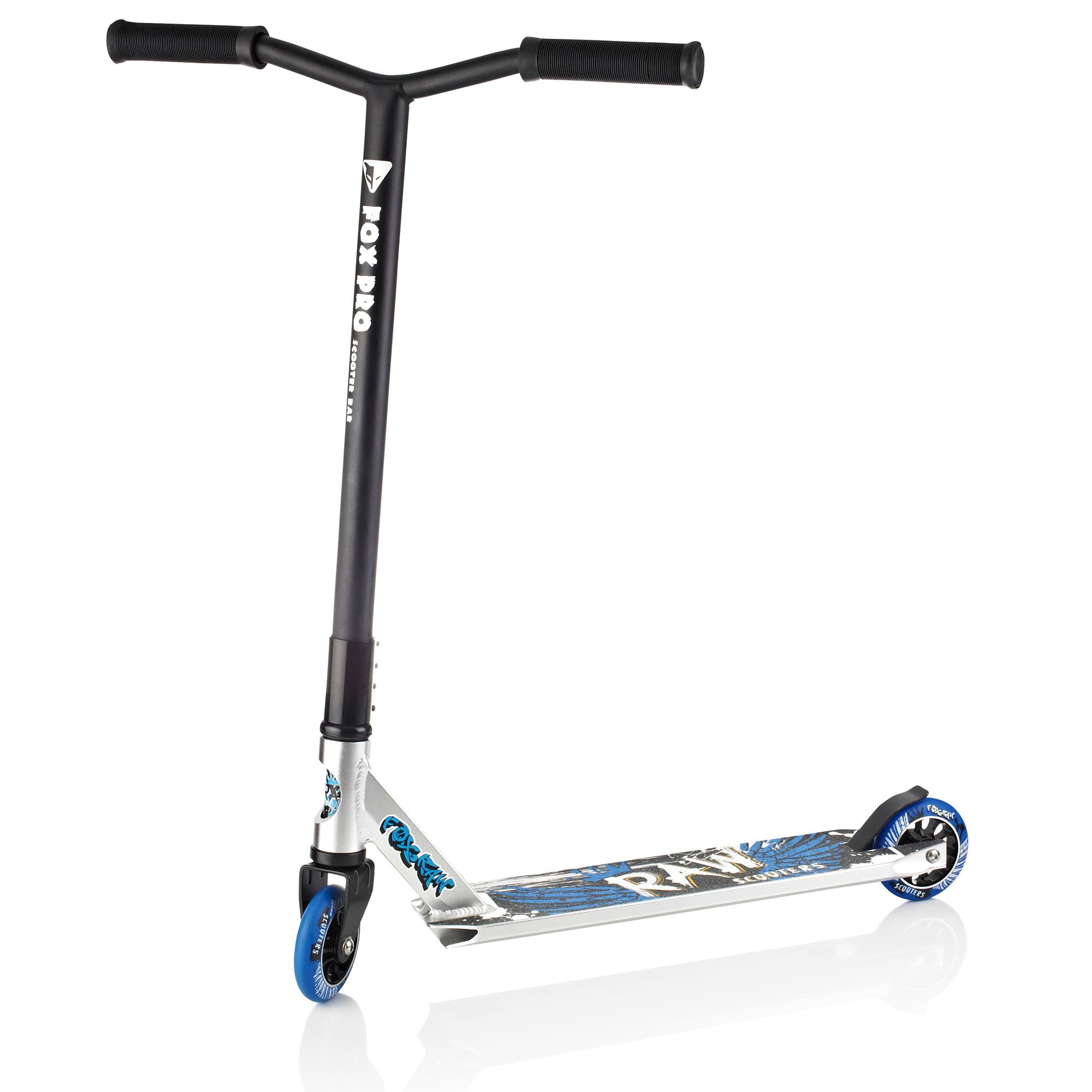 fox pro raw zink fixed bar stunt scooter trick push kick. Black Bedroom Furniture Sets. Home Design Ideas