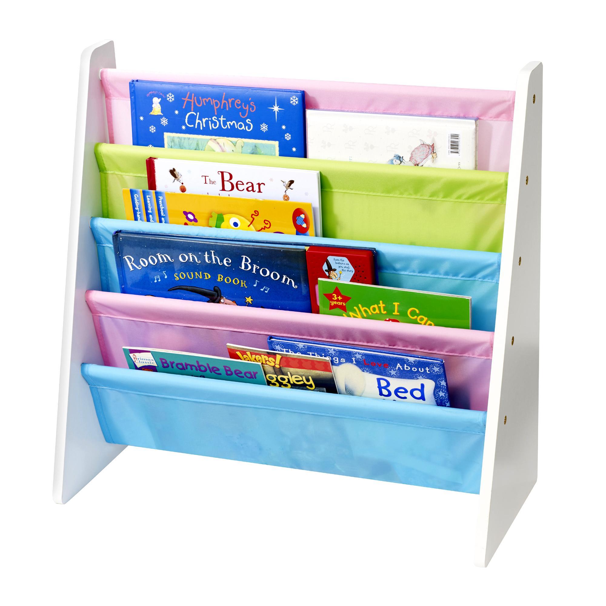New Bookcase Toy Box White Finish Bedroom Playroom Child: Childrens/Kids Wooden Bookcase Rack Storage Book-Shelf