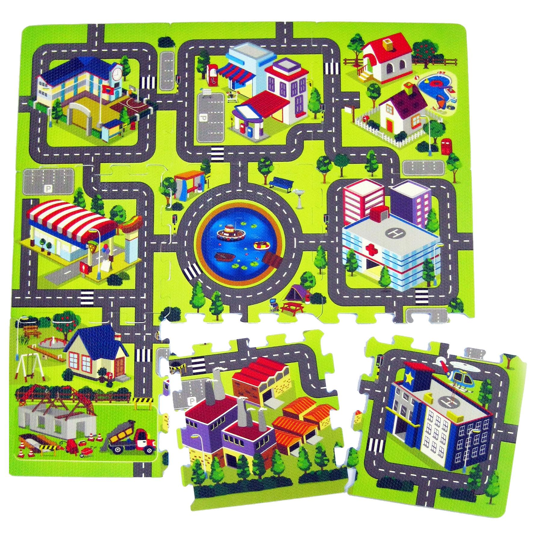 Town Village City Road Map Activity Soft Foam Childrens