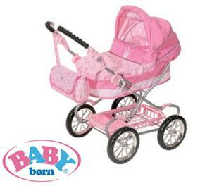 New Zapf Baby Born Deluxe Dolls Pram Buggy Stroller Ebay
