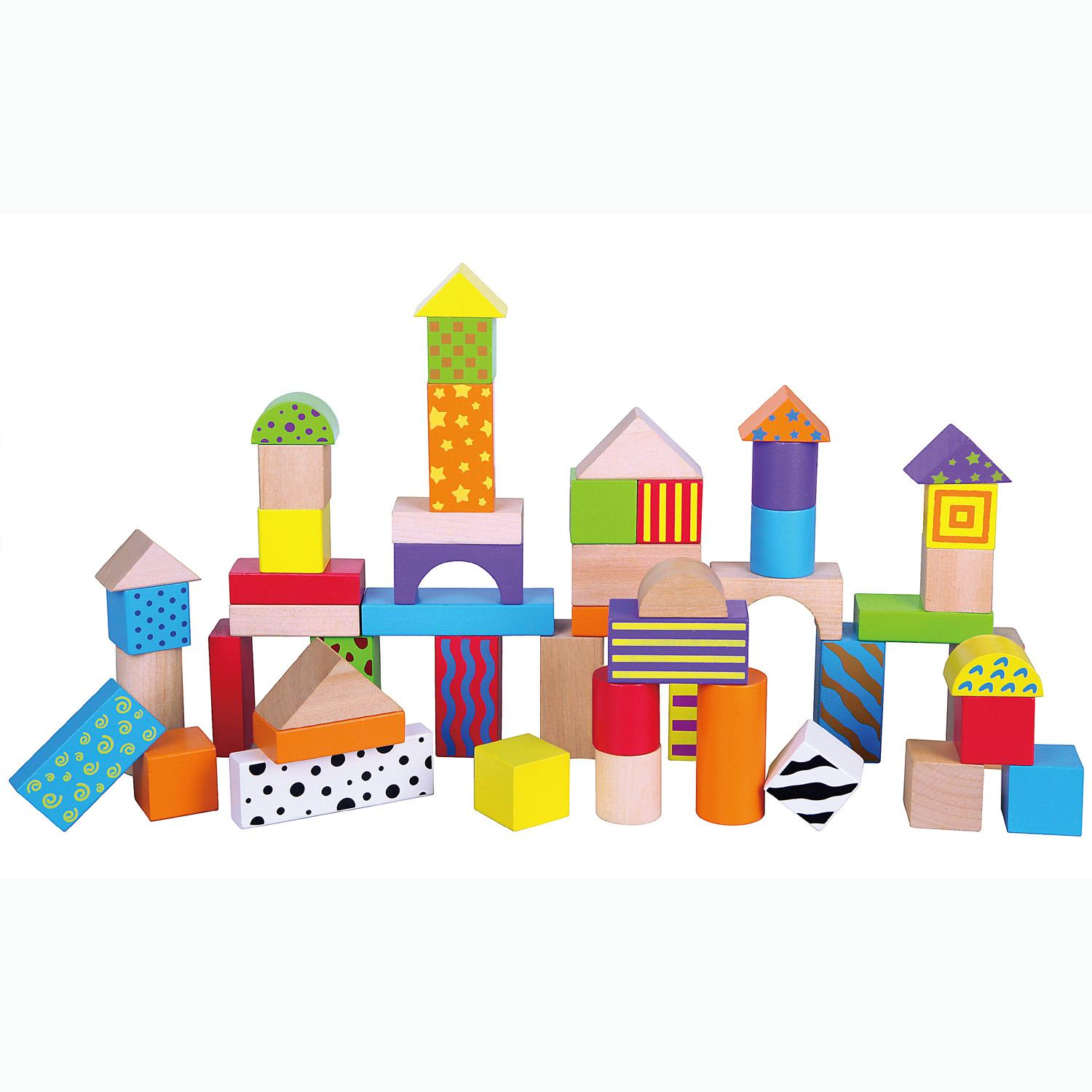 Wooden Blocks For Toddlers ~ Childrens wooden building stacking blocks bricks toy