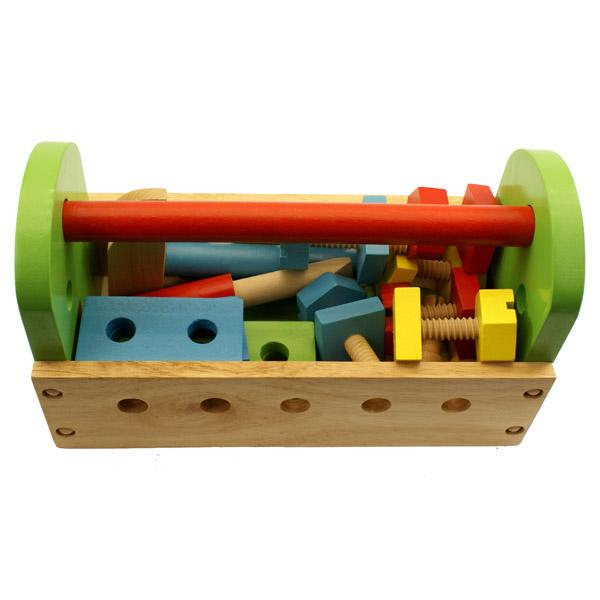 Toy Tool Kits For Boys : New childrens kids wood piece play toy tool box kit set