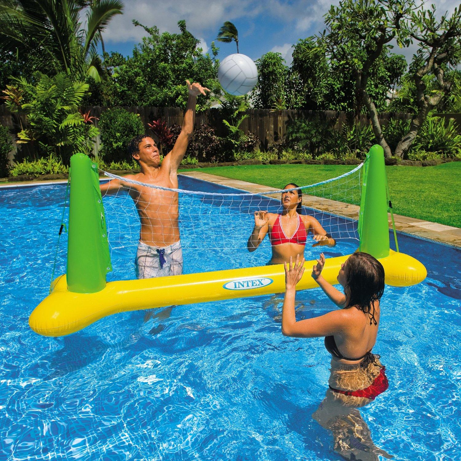 intex inflatable swimming paddling pool volleyball net. Black Bedroom Furniture Sets. Home Design Ideas