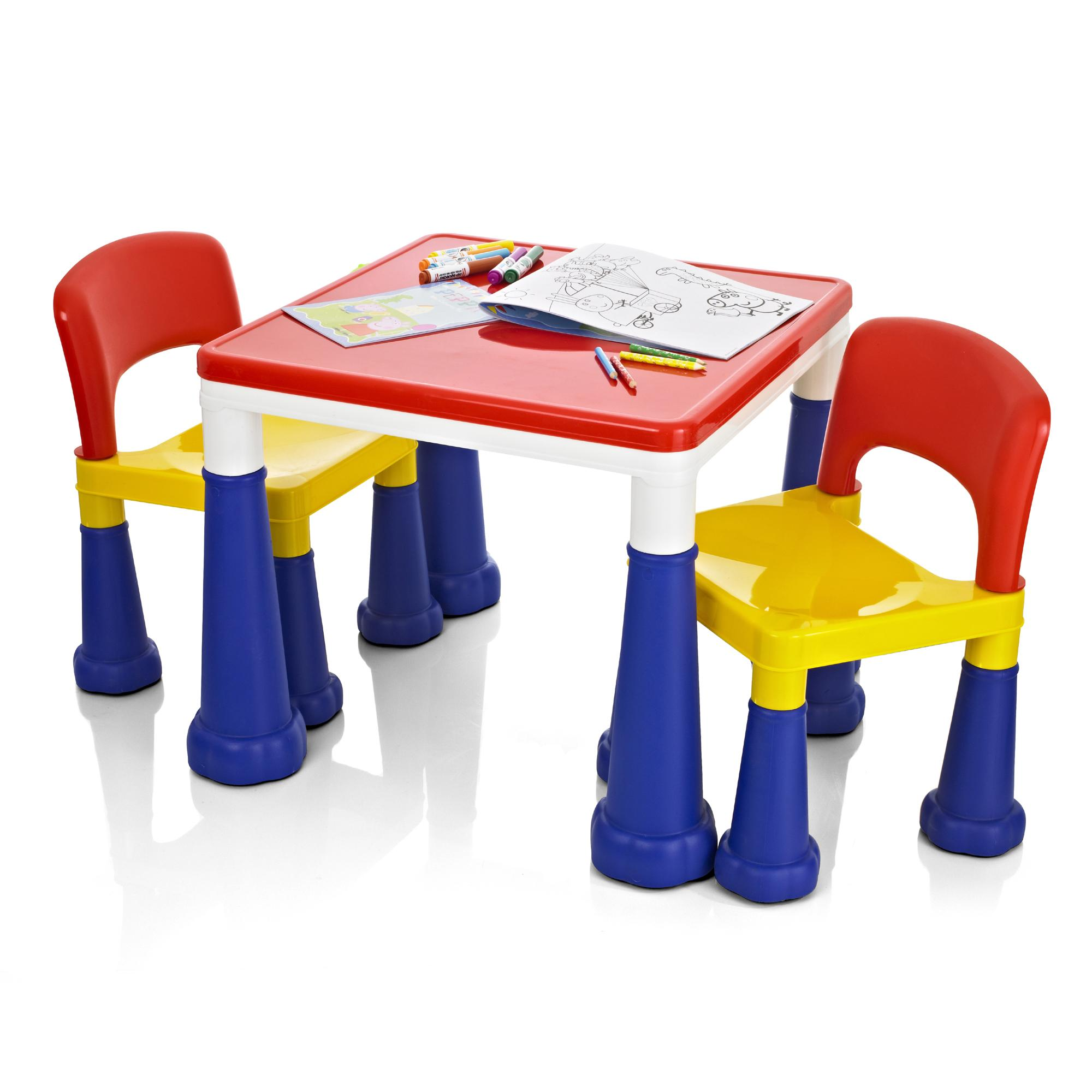 kids lego duplo building activity play colouring table chairs set