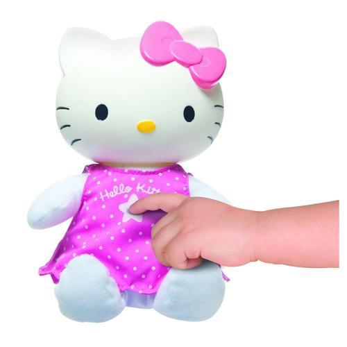 Good night hello kitty lullaby childrens bedroom night light soft toy