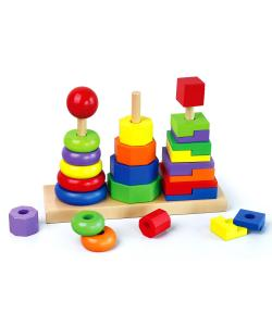 Wooden Geometric Stacker | Wooden Toys - Net Price Direct