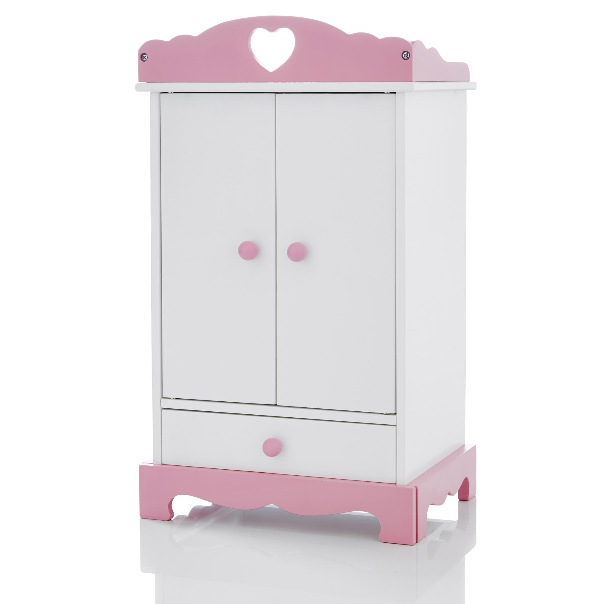 Wooden Wardrobe Closet: Molly Dolly Dolls Wooden Wardrobe Clothes Closet Chest