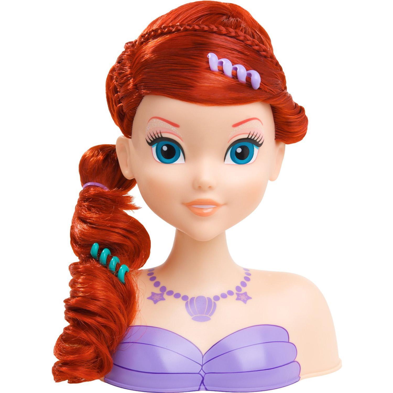 Disney Princess Ariel Styling Head Model Hairdressing Doll