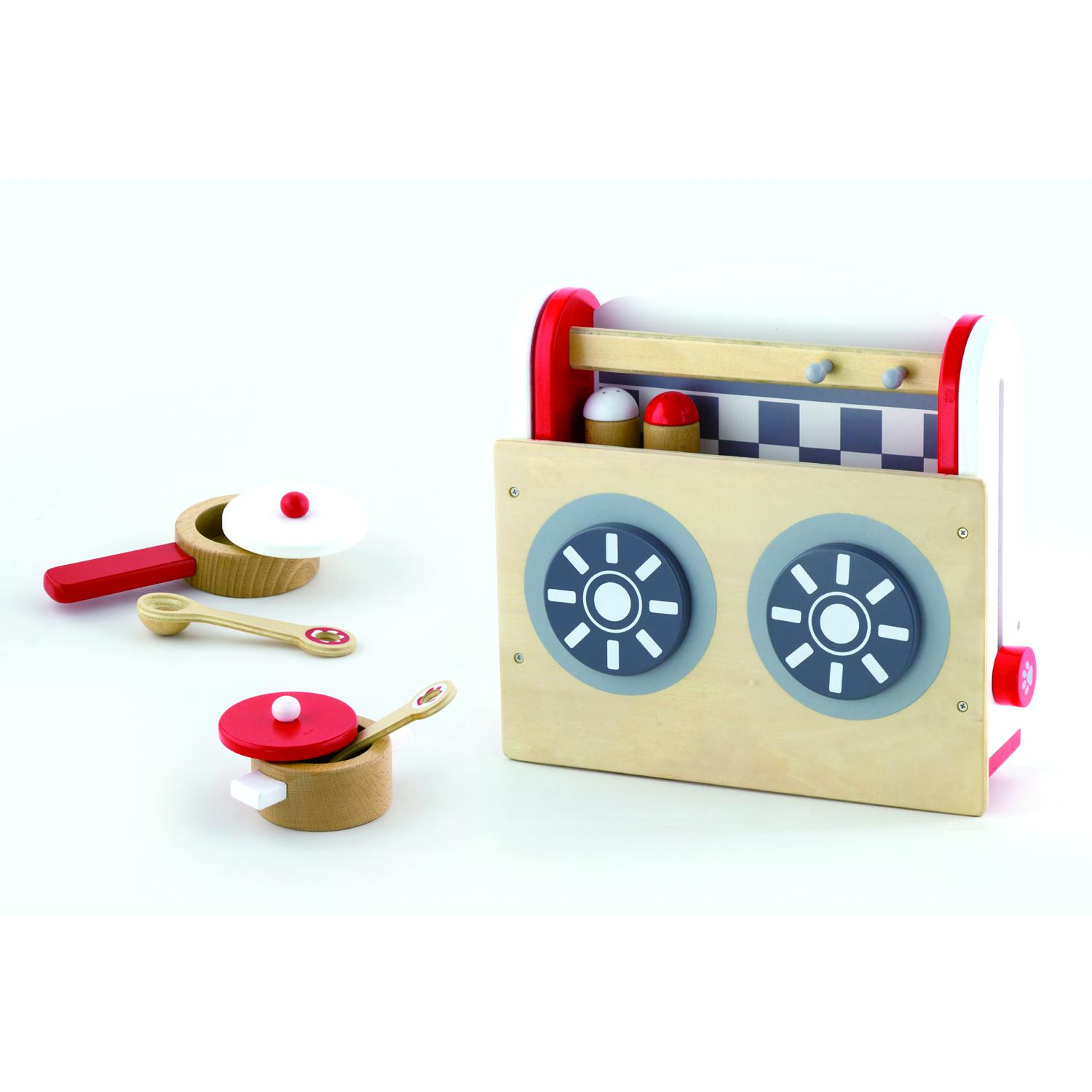Wooden Childrens Kids Foldable Toy Kitchen Pretend Cooking