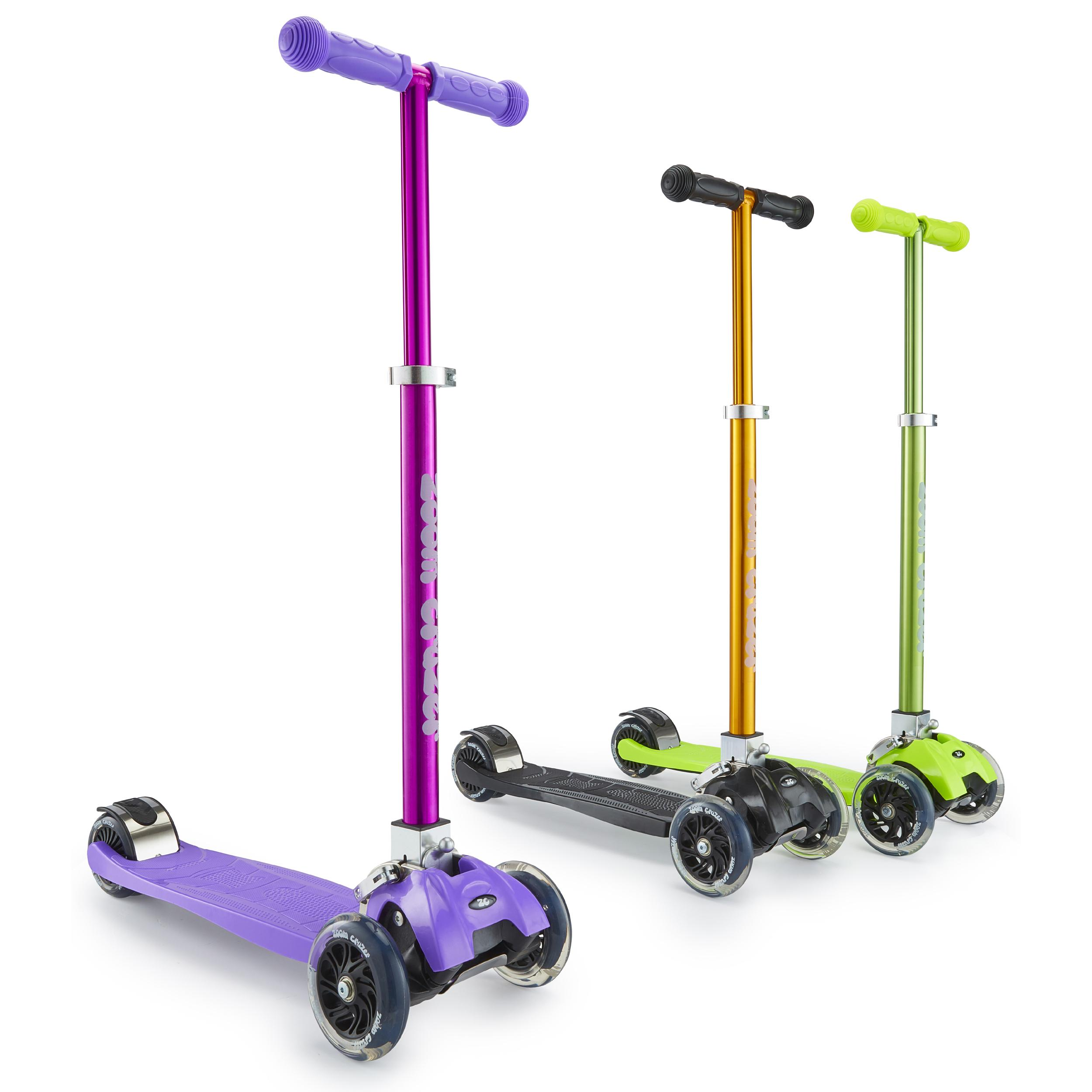 Zoom Cruzer Girls 3 Wheel Micro Scooter Purple For