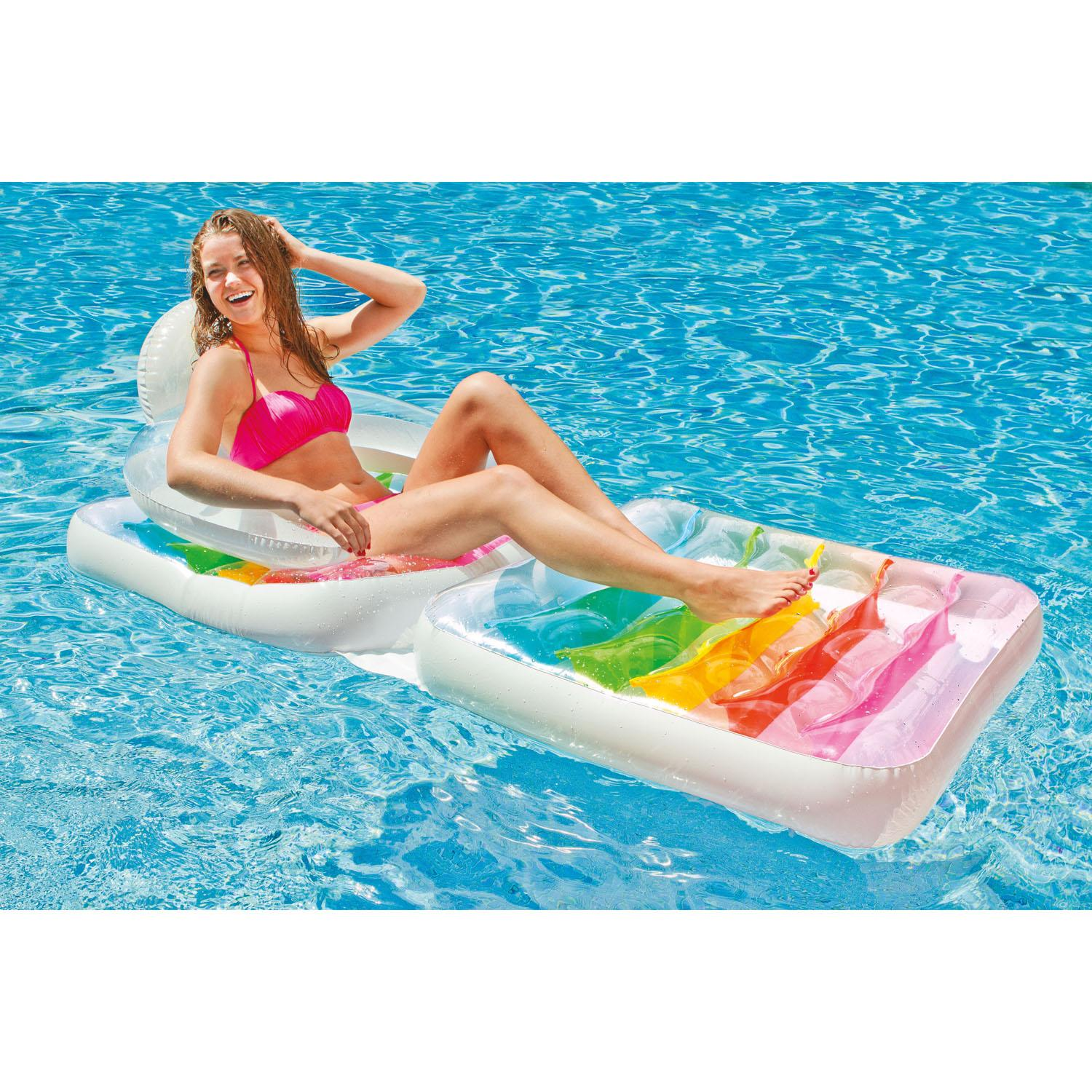 Intex Deluxe Inflatable Sun Lounger Swimming Pool Air-Bed Beach Seat/Chair Lilo : eBay
