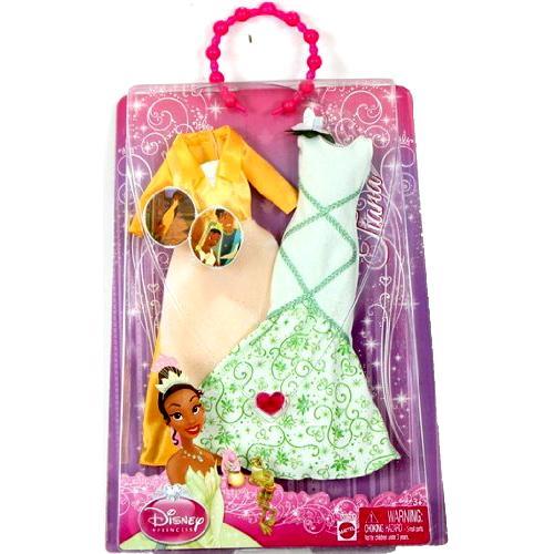 Disney Princess Doll Clothes: Disney Princess Tiana Doll Outfit Clothes Dress 2 Pack Set