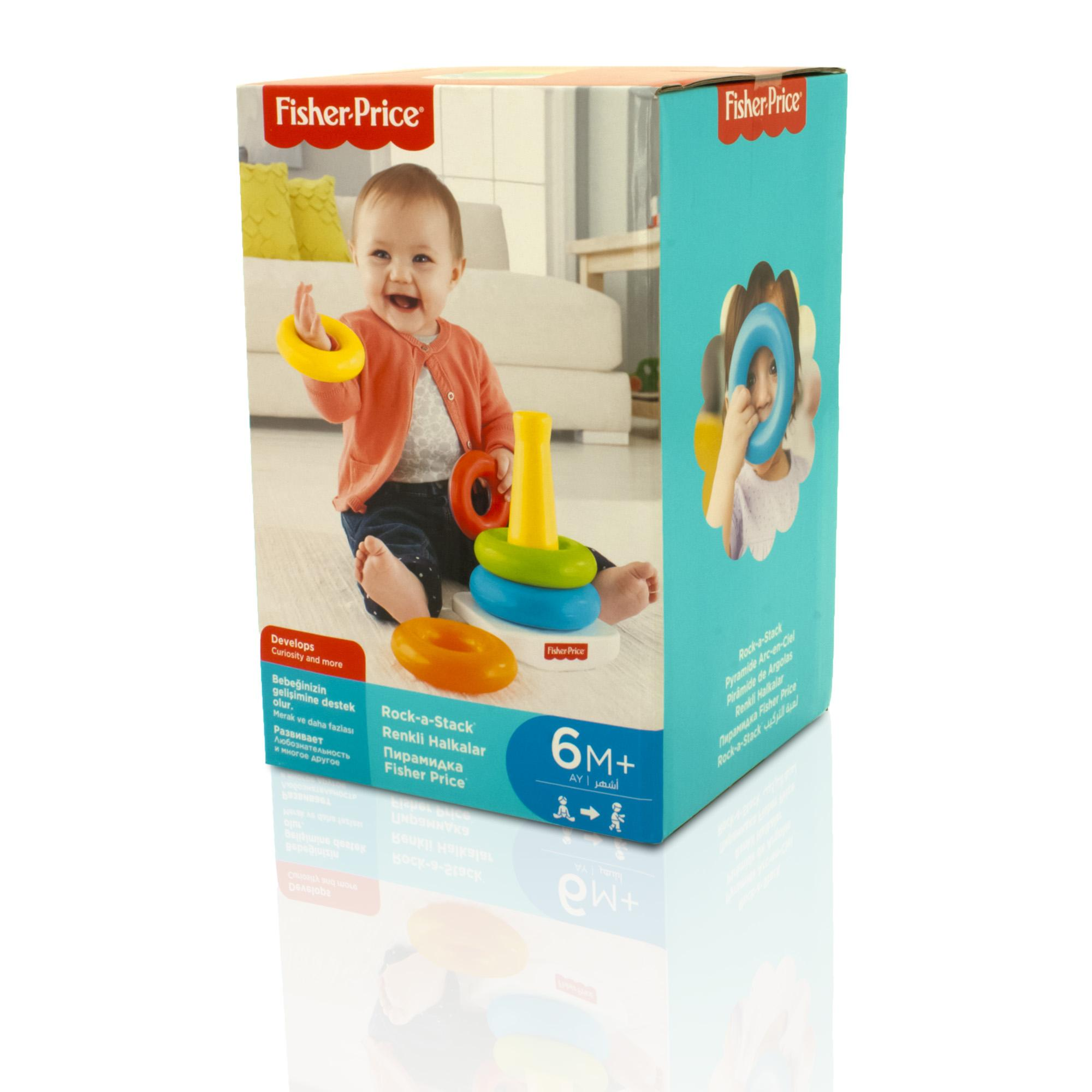 Stacking Rings Toy : Fisher price rock a stack stacking rings baby toy new