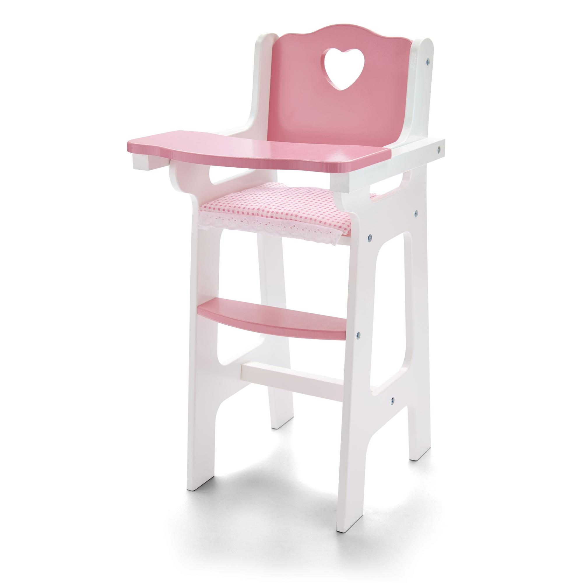 molly dolly my first dolls wooden high chair feeding doll wood toy