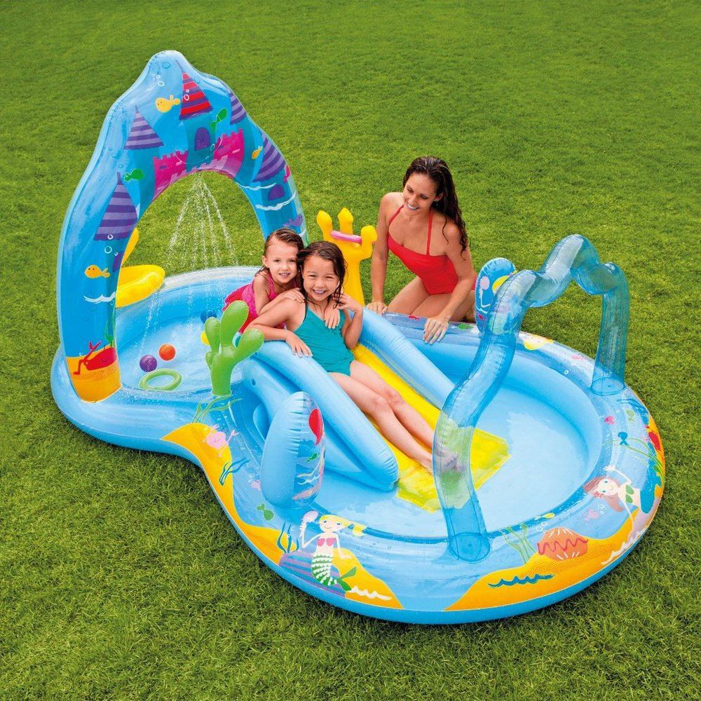 Intex mermaid childrens activity water play centre for Best children s paddling pool