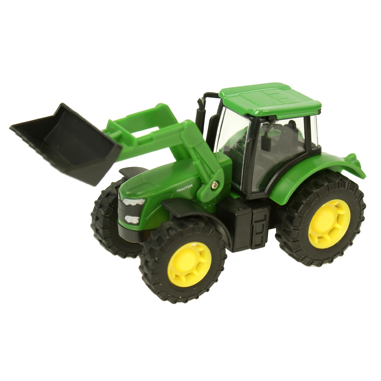 Digging Toys For Boys : Childrens boys farm tractor digger push along farming
