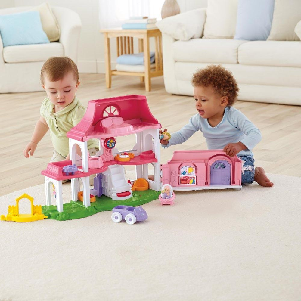 Fisher Price Little People Happy Sounds Home First Dolls House Figures Furniture Ebay