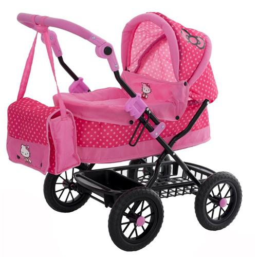 new hello kitty coupe girls dolls pram pushchair buggy. Black Bedroom Furniture Sets. Home Design Ideas