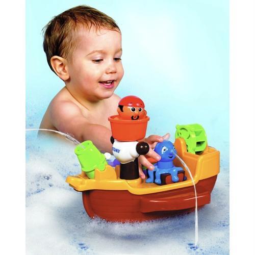 Toddler Bath Toys : Tomy aquafun pirate bath ship boat baby toddler squirting