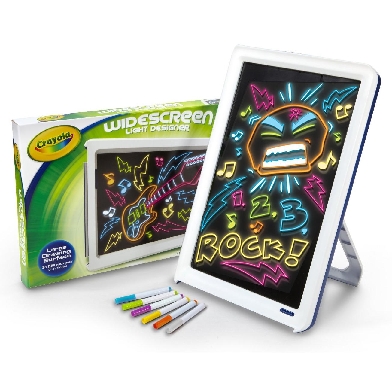 Crayola Widescreen Light Up Designer Childrens Kids Colouring Drawing Board Set Ebay