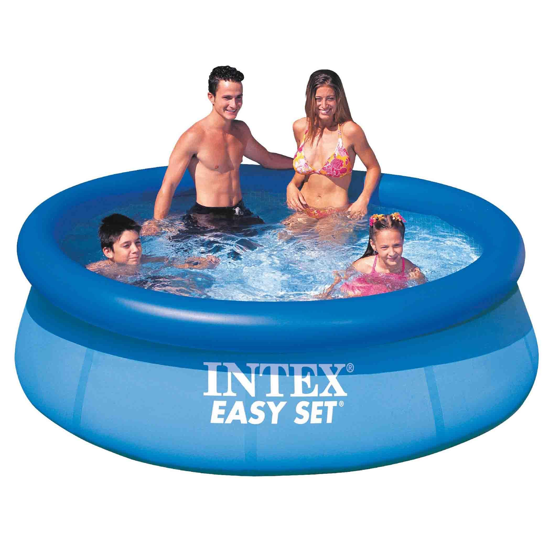 intex 8ft 8 39 foot easy fast set family childrens swimming. Black Bedroom Furniture Sets. Home Design Ideas