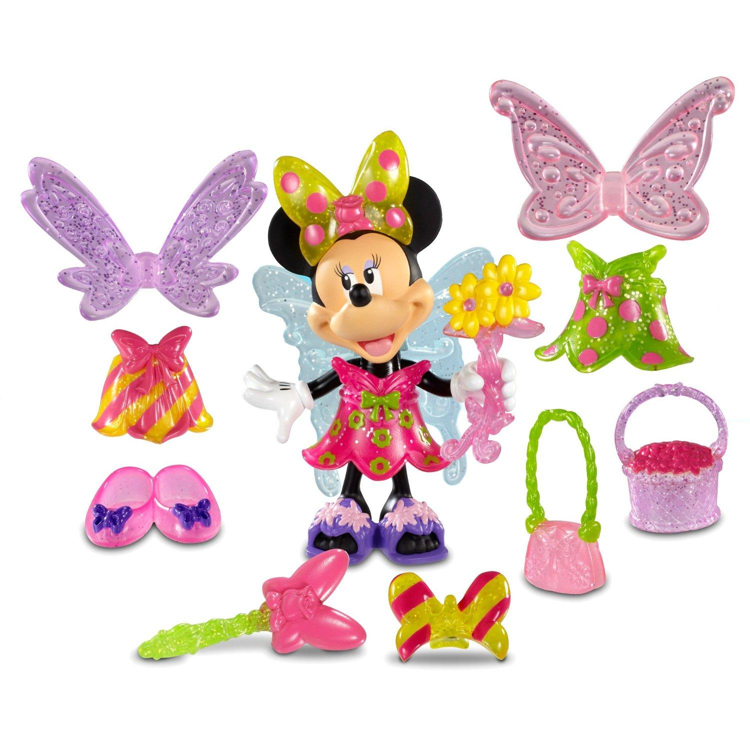 Minnie Mouse Toys : Minnie mouse fairy bow tique figure set toy dress up playset
