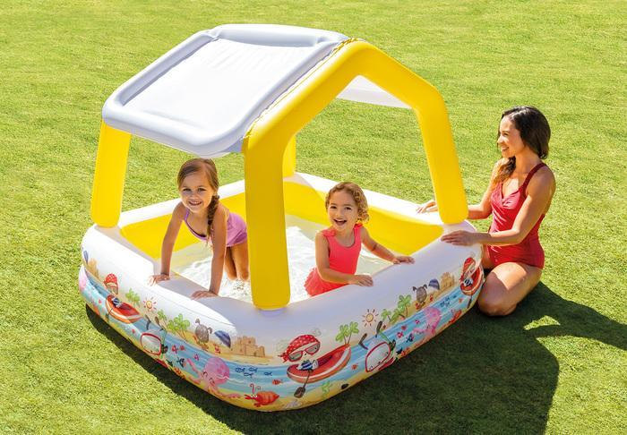 Intex 5ft 5 39 foot childrens swimming paddling garden pool for Intex gartenpool