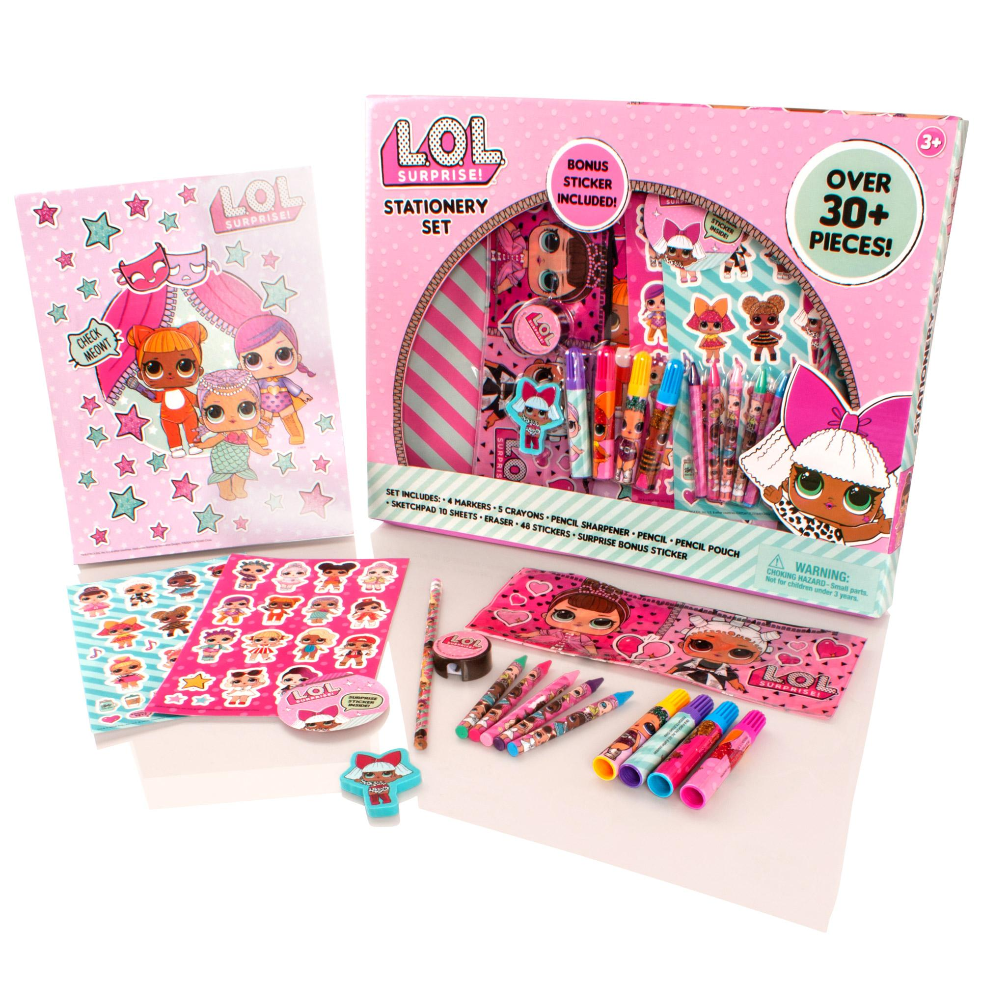 Pieces LOL SURPRISE STATIONARY SET Over 30 Bonus sticker included!