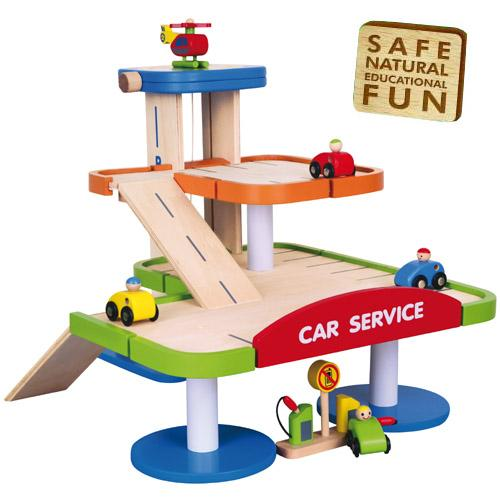 Wooden Toy Car Garage : Childrens kids wooden multi storey car park boys garage