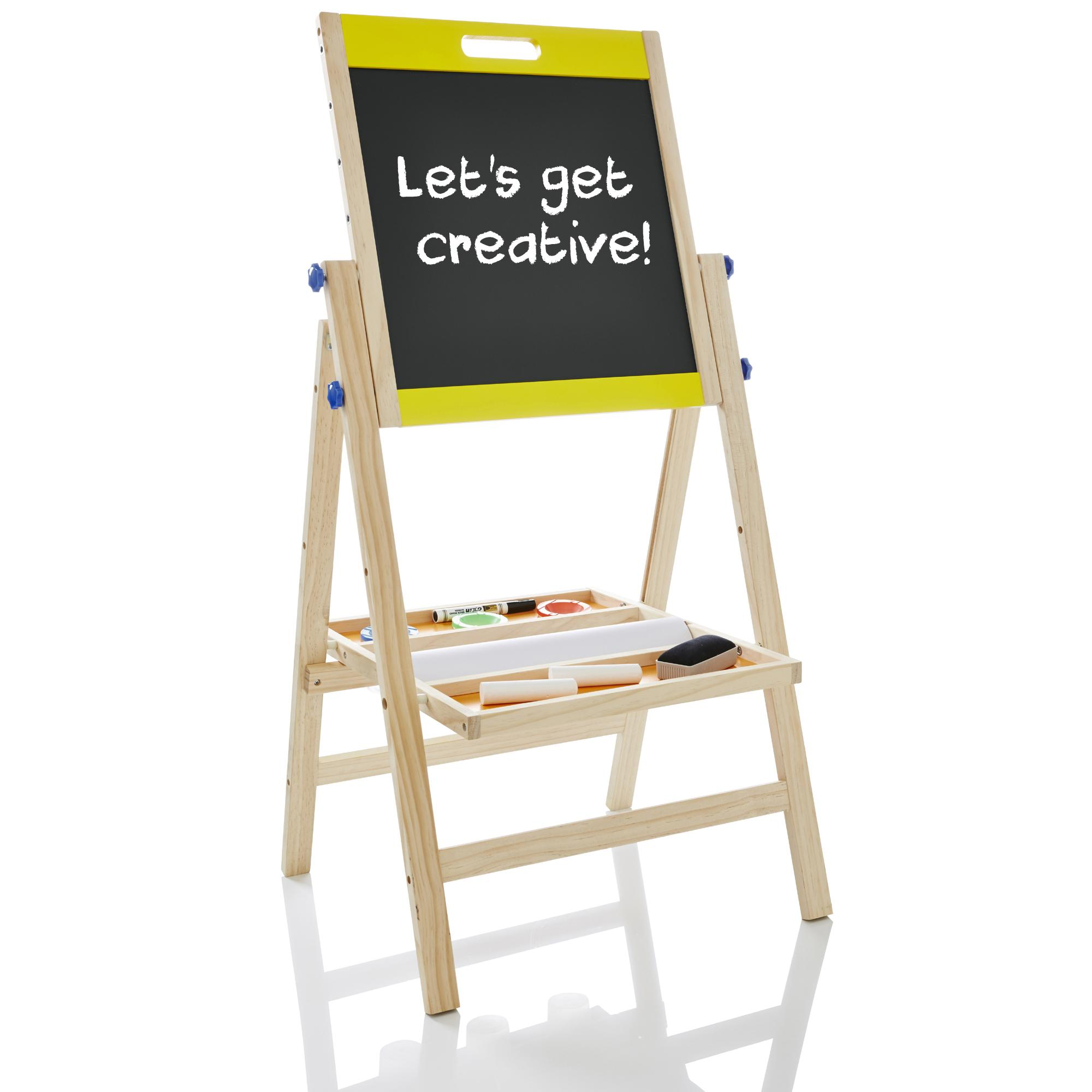 3 In 1 Wooden Art Easel Childrens Kids Standing Drawing