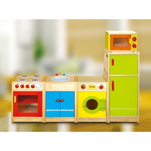 Wooden Microwave Oven Childrens Kids Pretend Play Kitchen Wood Toy Play set