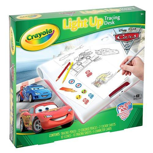Crayola Cars 2 Light Up Tracing Drawing Desk Childrens