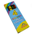 Wax Crayons 4pk - Party Bag Toy