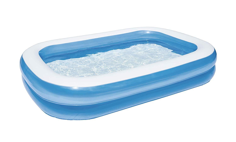 Inflatable Blue Rectangular Pool Swimming Pools Summer
