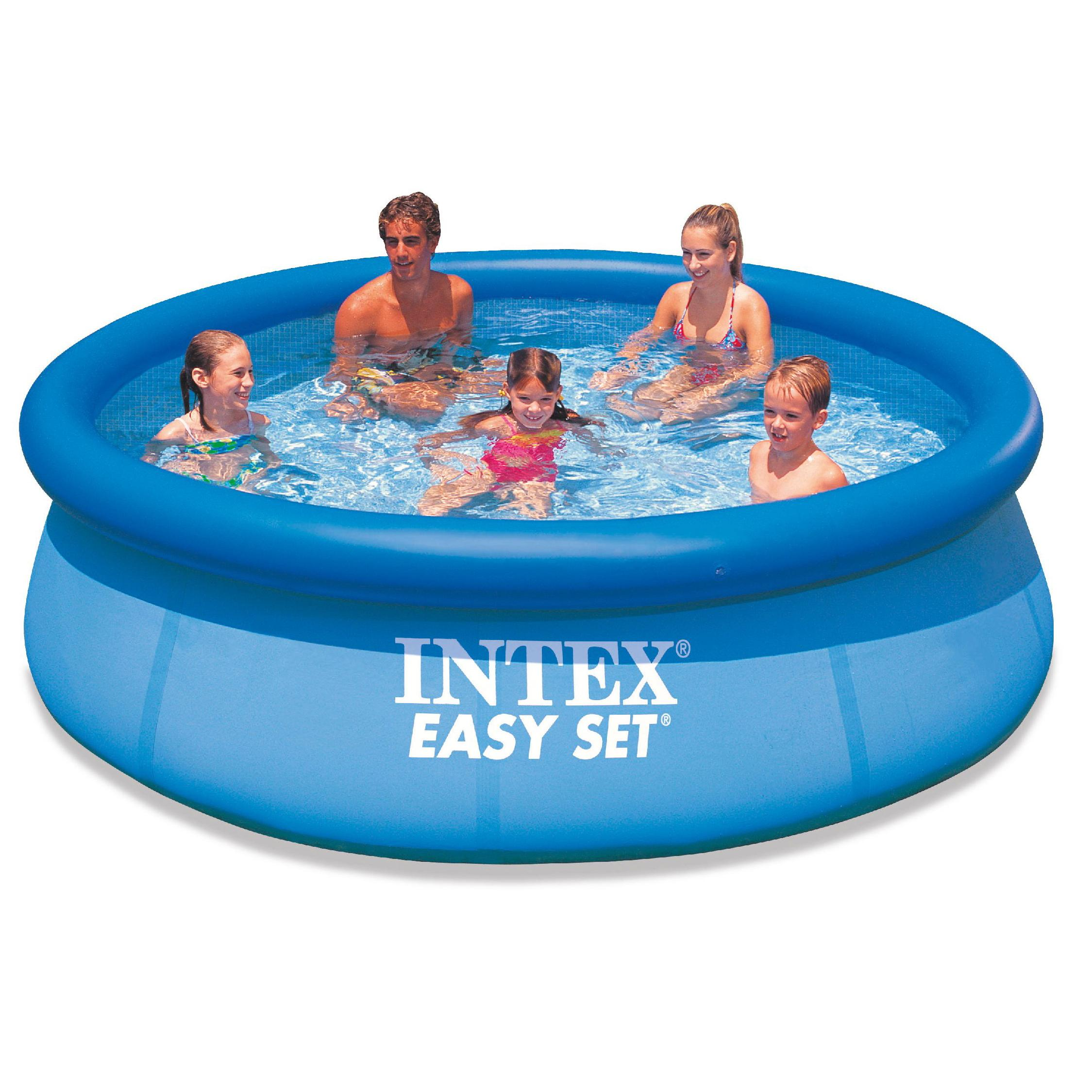 intex easy fast set 10ft 10 39 foot family swimming paddling pool garden. Black Bedroom Furniture Sets. Home Design Ideas