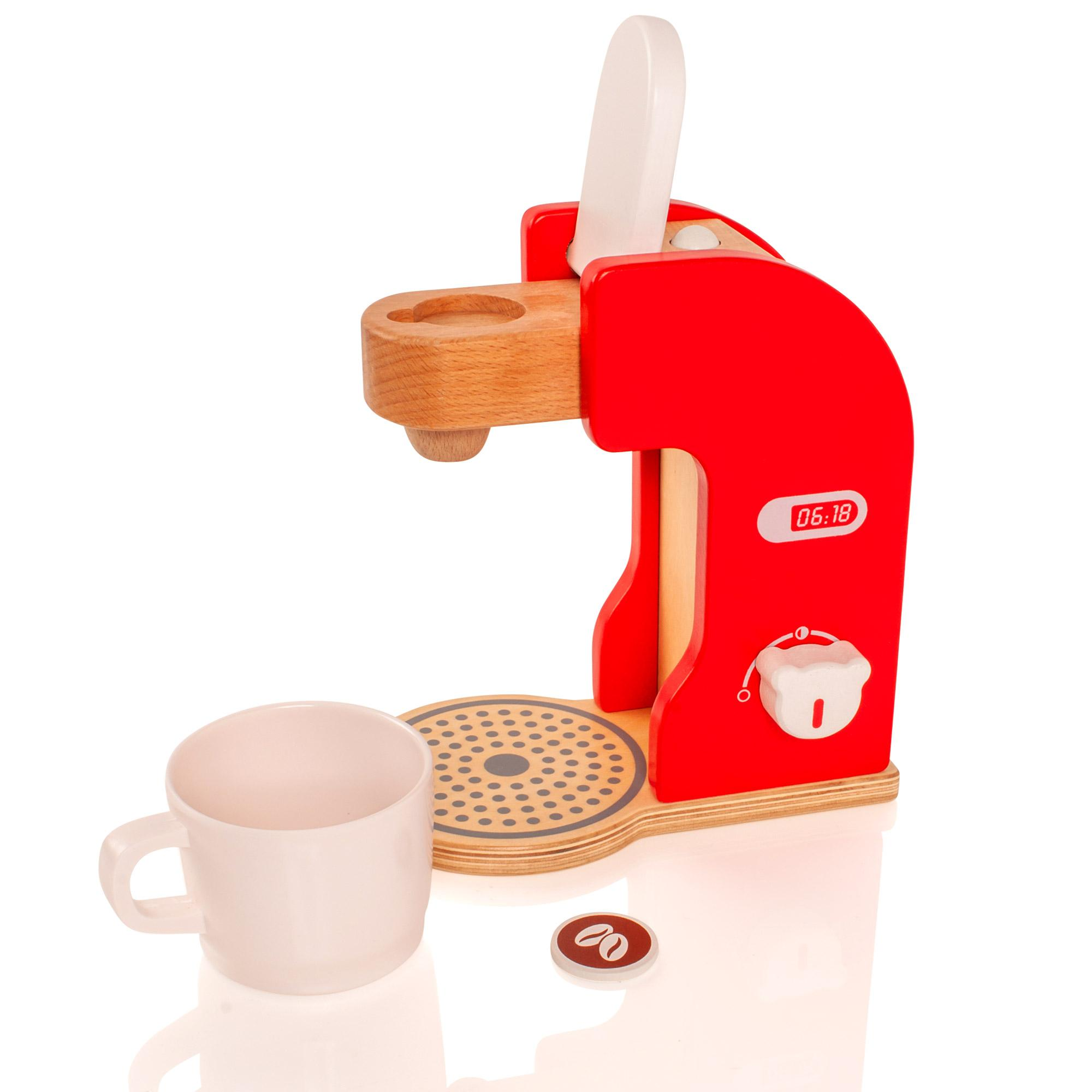 Wooden Childrens/Kids Kitchen Coffee Maker Machine Appliance Pretend Toy Playset eBay