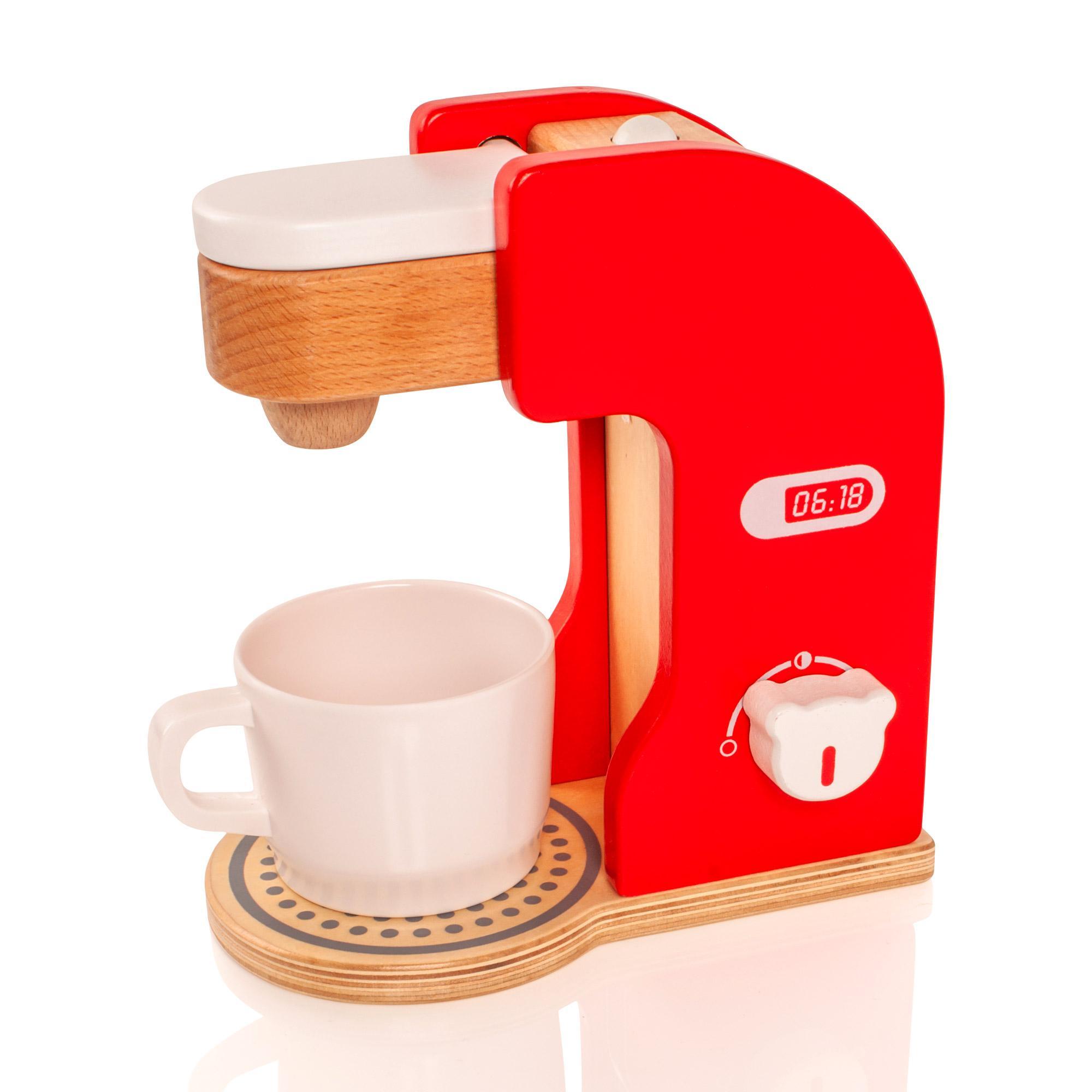 Wooden Childrens Kids Kitchen Coffee Maker Machine