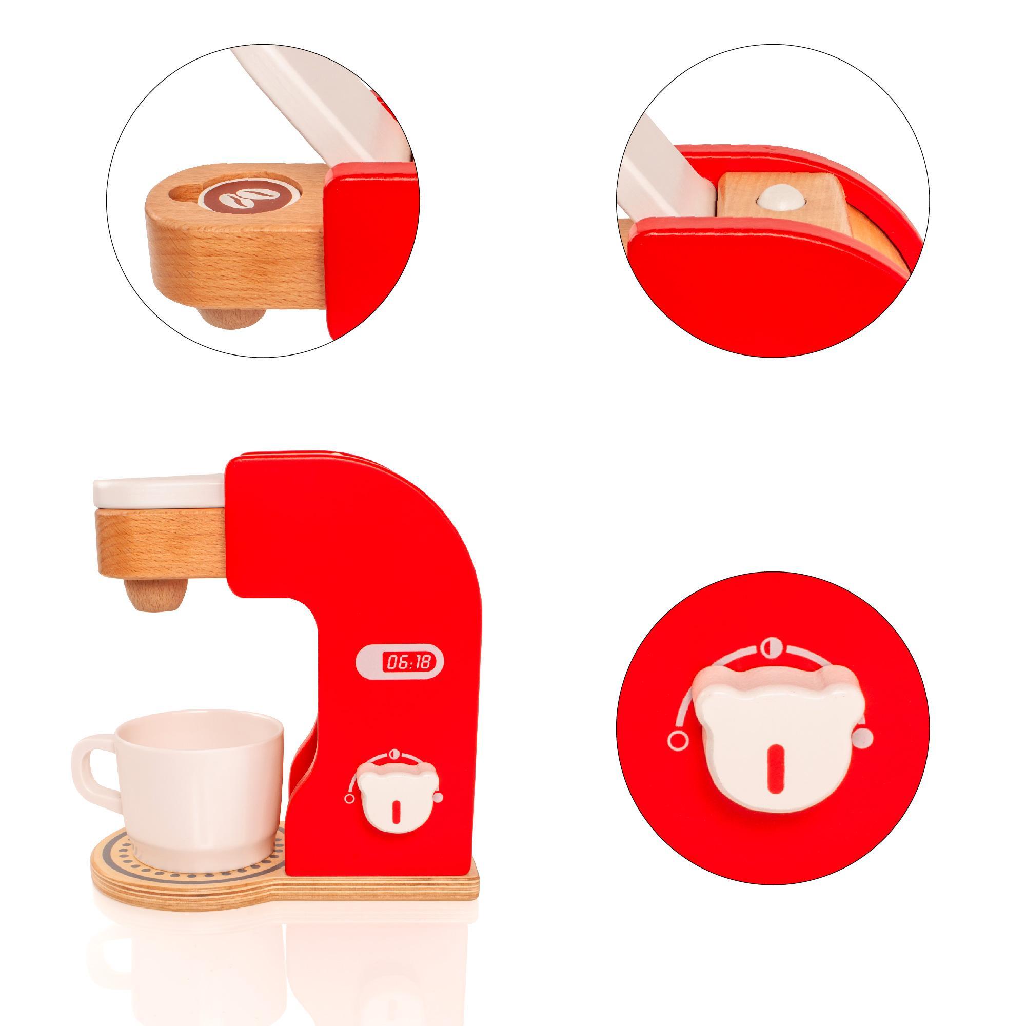 Coffee Maker Toy : Wooden Childrens/Kids Kitchen Coffee Maker Machine Appliance Pretend Toy Playset eBay