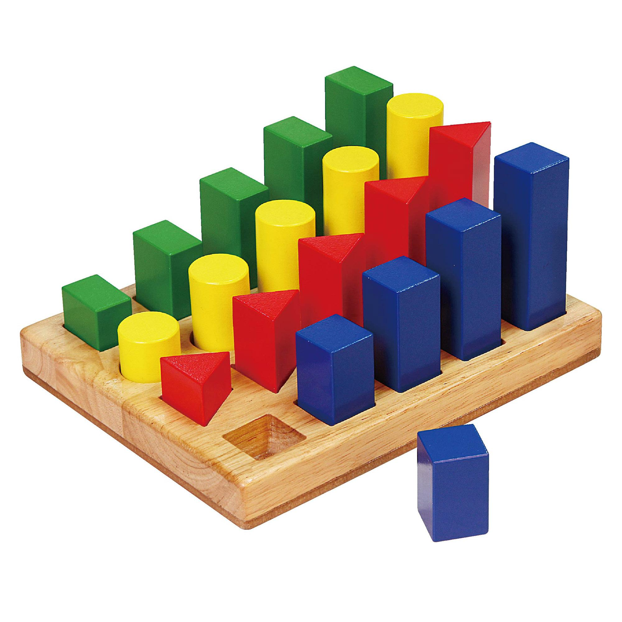 Viga wooden shape sequence blocks childrens wood stacking