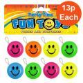 Smiley Face Yo Yo 8 Pack