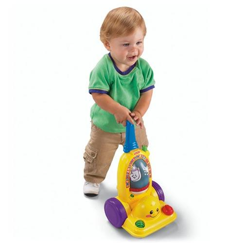 new fisher price learning childrens vacuum cleaner kids hoover pretend play toy ebay. Black Bedroom Furniture Sets. Home Design Ideas