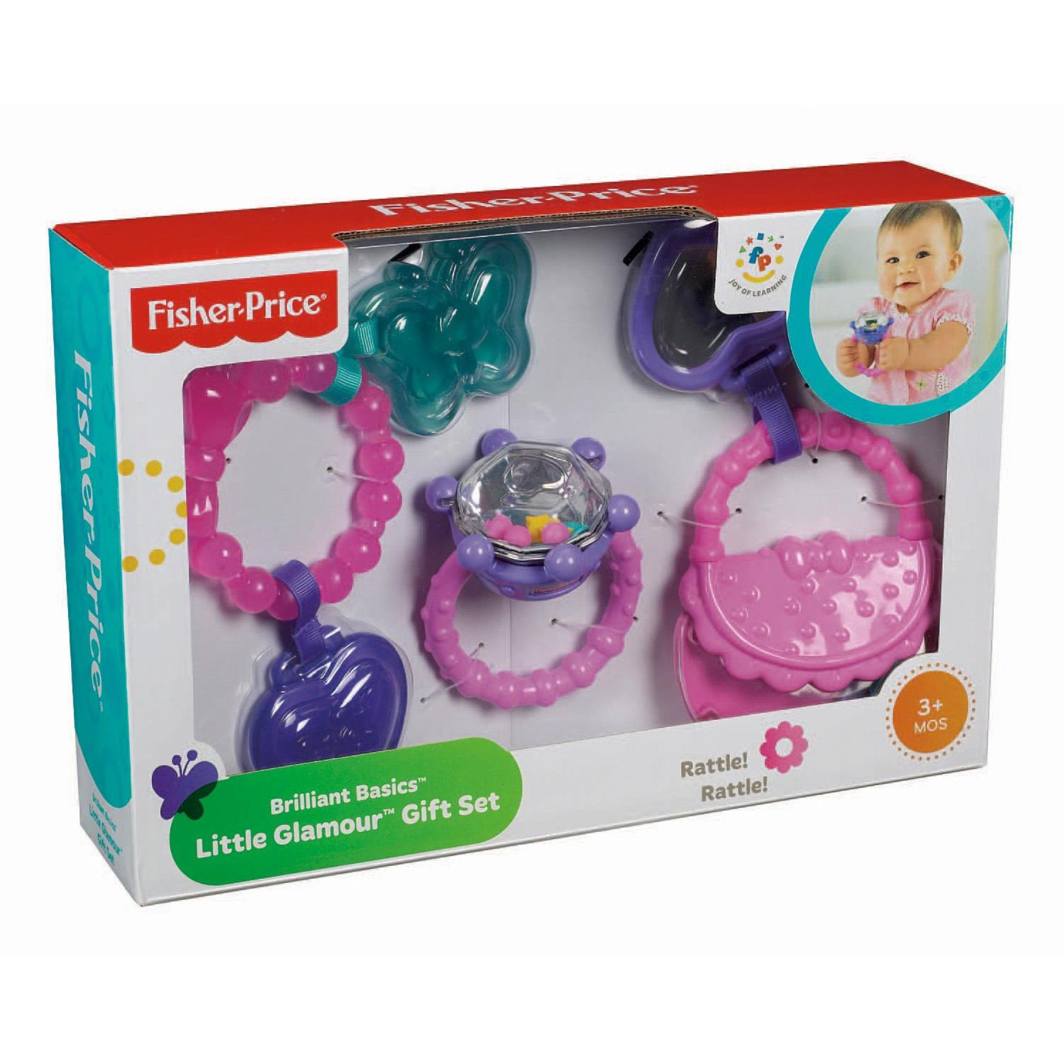 Fisher Price Little Glamour Baby Activity Rattle Teether Teething