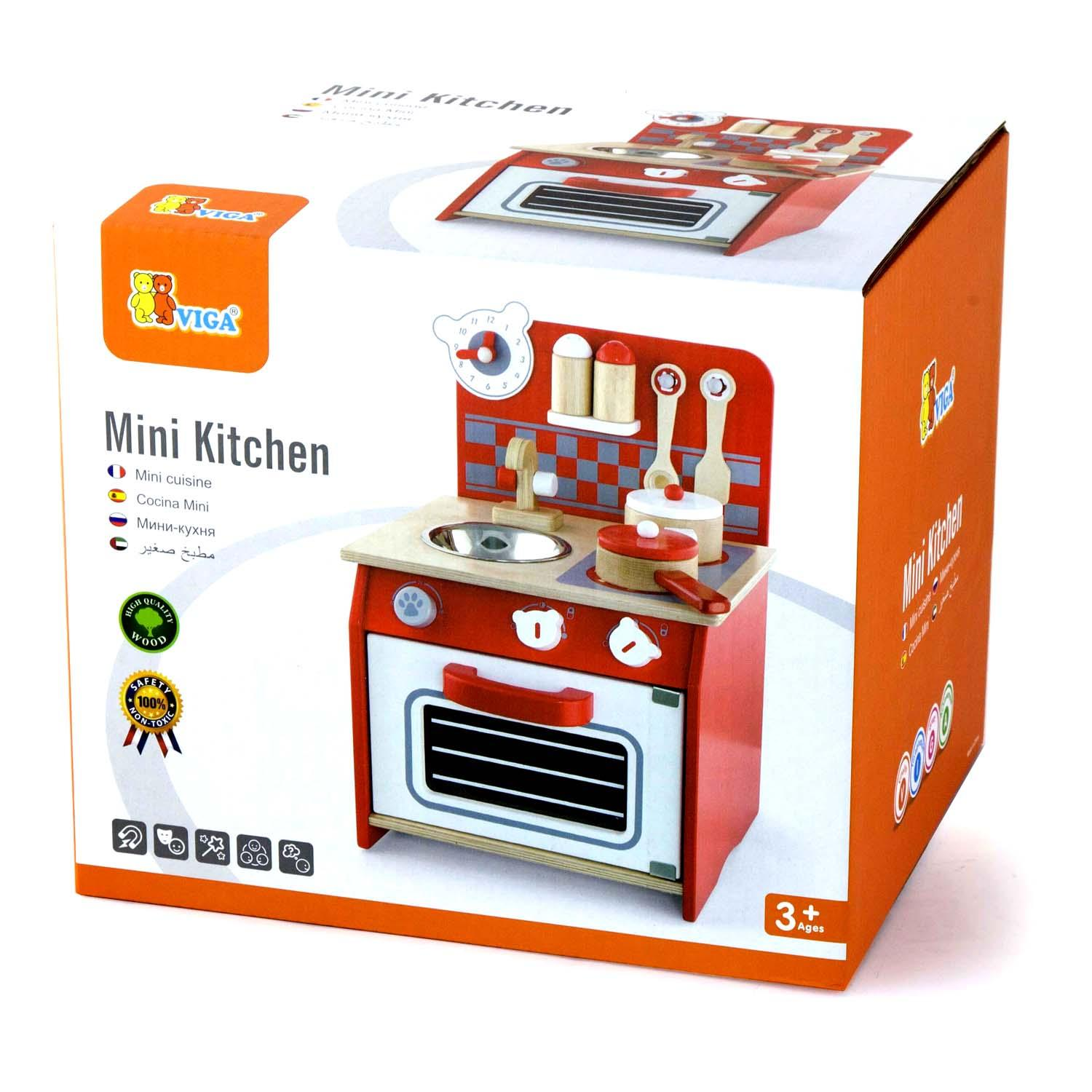 Kithen Mini: Wooden Childrens/Kids First Mini Toy Kitchen Pretend