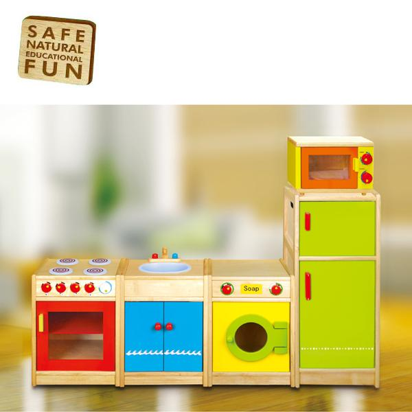 wooden fridge refridgerator childrens kids pretend play kitchen toy