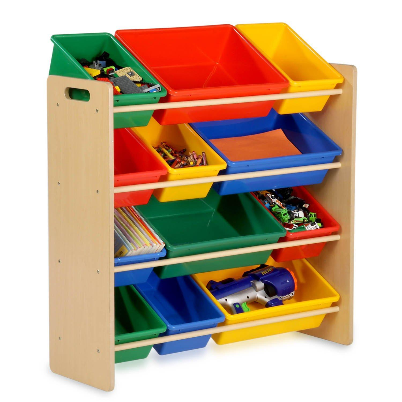 Childrens Kids Bedroom Storage Shelf Rack Unit Plastic